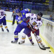 Ice-hockey game between Ukraine and Romania — Stock Photo