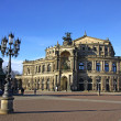 Saxon State Opera house at Theaterplatz in Dresden, Germany - Stock Photo