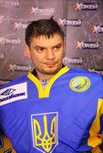 Bramkarz kostiantyn simchuk ukrainy — Zdjęcie stockowe