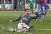 Goalkeeper Oleksandr Rybka of Obolon Kyiv — Stock Photo