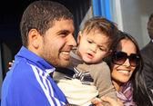葛森 magrao 的基辅迪纳摩和他的家人 — 图库照片