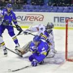 Постер, плакат: Ice hockey game between Ukraine and Romania