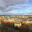 Panoramic view of Budapest city, Hungary - Stock Photo