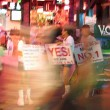 Nightlife at walking street in Pattaya - Stock Photo