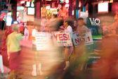 Nachtleben in walking street in pattaya — Stockfoto