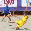 Beach soccer game between Ukraine and Russia — Stock Photo #9697712
