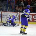 Prime Euro Hockey Challenge game between Ukraine and Kazakhstan — Stock Photo #9697742