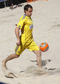 андрей борсук украины пнуть мяч — Стоковое фото