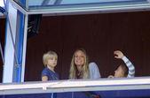 Kristen pazik ve çocukları — Stok fotoğraf