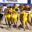 Ukraine players celebrate the winning — Stock Photo