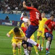 Players of Ukraine and Chile fight for the ball — Stock Photo #9813235