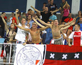 AFC Ajax fans celebrate after scoring a goal — Stock Photo
