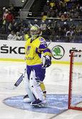Lední hokej. ukrajina vs kazachstán — Stock fotografie