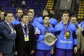 Kazakstan team - vinnaren av ishockey Vm — Stockfoto