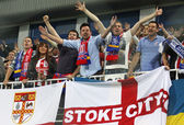 FC Stoke City supporters show their support — Stock Photo