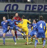 Ukraine vs Italy — Stock Photo