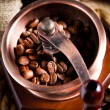 Coffee and grinder - Stock Photo