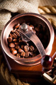 Coffee and grinder — Stock Photo