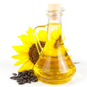 Sunflower seed oil — Stock Photo