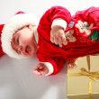 Baby in santa wear — Stock Photo