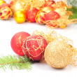 Stock Photo: Christmas decoration on fir branch