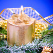 Christmas candle — Stock Photo #8054745