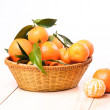 Tangerines in basket — Stock Photo