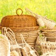 Basketry on nature — Stock Photo