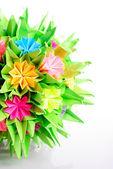 Origami kusudama flower — Stock Photo