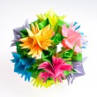 Origami kusudama flower - Stock Photo