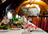 Restourant's table — Stock Photo