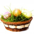 Easter eggs on green grass - Foto Stock