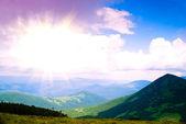 Sunrise in Carpathian mountains — Stock Photo