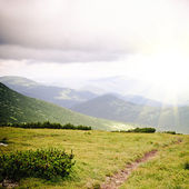 Path in mountains — Stock Photo