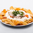 Salad with chips — Stock Photo