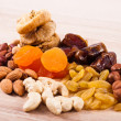 Royalty-Free Stock Photo: Dried fruits and nuts