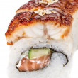 Stock Photo: Japanese traditional Cuisine - Maki Roll with Cucumber , Cream C