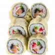 Japanese Cuisine -Tempura Maki Sushi (Deep Fried Roll made of sa — Stock Photo #10690090