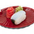Japanese squid sushi — Stock Photo