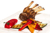 Gourmet Main Entree Course Grilled Lamb steak — Stock Photo