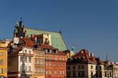 Plaza del castillo en varsovia, polonia — Foto de Stock