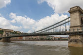 Cadena puente de budapest, hungría — Foto de Stock