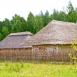 Old wooden house in village — Foto Stock