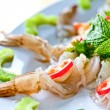 Thai Dishes - Raw Shrimps - Stock Photo