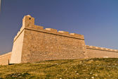 Ribat - arabic fortification and cemetery in Mahdia - seaside to — Stock Photo