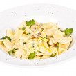Pasta with mushrooms and parmesan cheese — Stock Photo #9072481