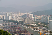 China Hainan island, city of Sanya aerial view — Stock Photo