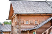 Old wooden house in village — Stock Photo