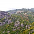 Meteora cliffs and monasteries - Stock Photo