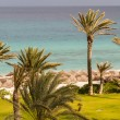 Stock Photo: Scene at mediterranebeach resort in Tunisia.